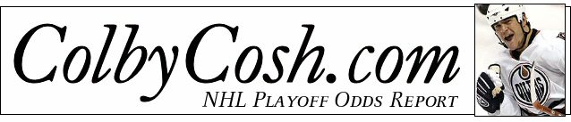 Colby Cosh's nightly NHL playoff odds report.